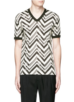 Main View - Click To Enlarge - Dolce & Gabbana - Zigzag print T-shirt