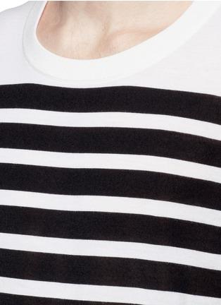 细节 - 点击放大 - DOLCE & GABBANA - 拼色横纹羊绒针织衫