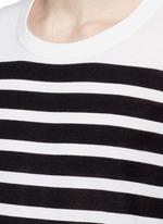 拼色横纹羊绒针织衫