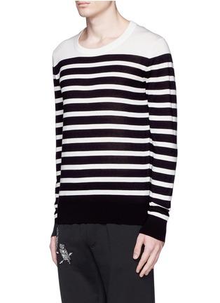 DOLCE & GABBANA-拼色横纹羊绒针织衫