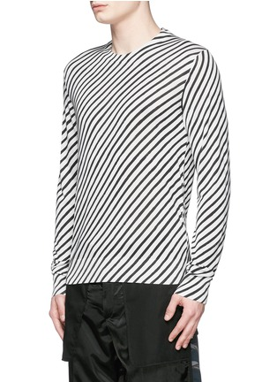 Front View - Click To Enlarge - Dolce & Gabbana - Diagonal stripe silk sweater