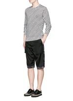 Diagonal stripe silk sweater