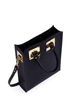 Mini rectangle leather box tote
