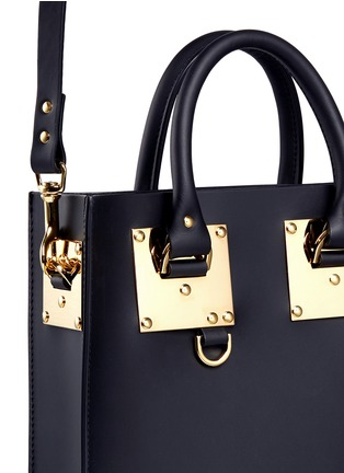 Detail View - Click To Enlarge - Sophie Hulme - Mini rectangle leather box tote
