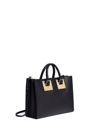 Front View - Click To Enlarge - Sophie Hulme - E/W Albion' soft leather satchel