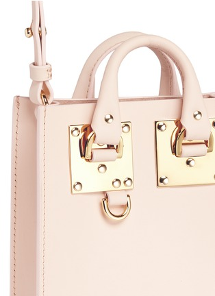 Detail View - Click To Enlarge - Sophie Hulme - 'Albion Nano' leather box tote