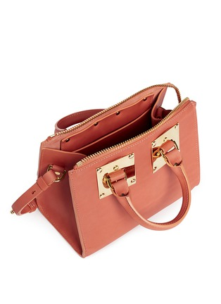 Detail View - Click To Enlarge - Sophie Hulme - 'Albion' mini leather bowling bag