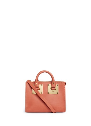 Main View - Click To Enlarge - Sophie Hulme - 'Albion' mini leather bowling bag