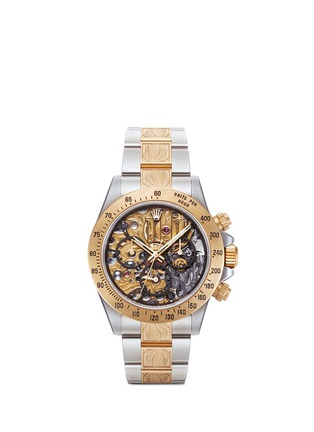 Main View - Click To Enlarge - Mad Collections - Rolex Steel Skeleton II Engraved Daytona watch