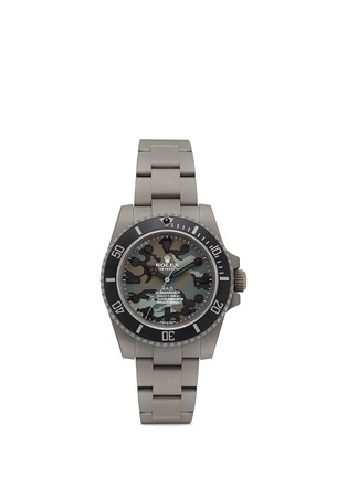 Main View - Click To Enlarge - Mad Collections - Rolex Submariner camouflage matte DLC oyster perpetual watch