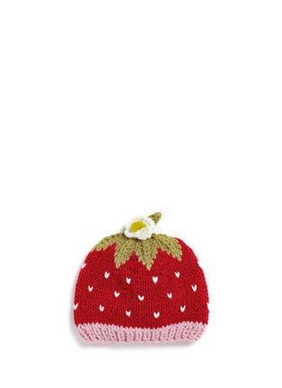 Main View - Click To Enlarge - THE BLUEBERRY HILL - 'Addie' strawberry knit kids beanie
