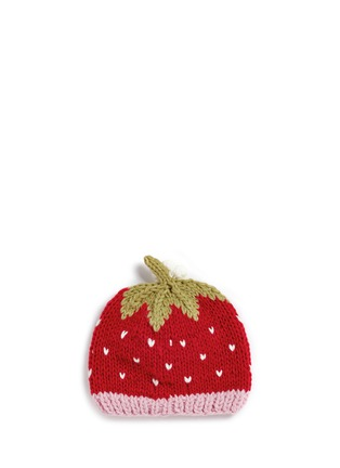 Figure View - Click To Enlarge - THE BLUEBERRY HILL - 'Addie' strawberry knit kids beanie