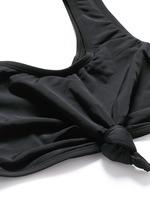 'Knot' cropped swim tank top