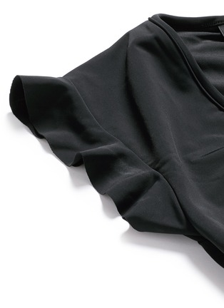 Detail View - Click To Enlarge - Beth Richards - 'Sophia' flutter sleeve cropped swim top