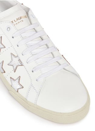 Detail View - Click To Enlarge - Saint Laurent - 'California' embossed star leather sneakers