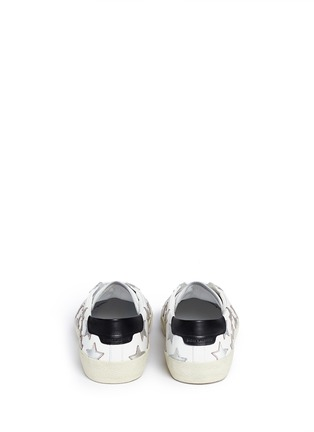 Back View - Click To Enlarge - Saint Laurent - 'California' embossed star leather sneakers