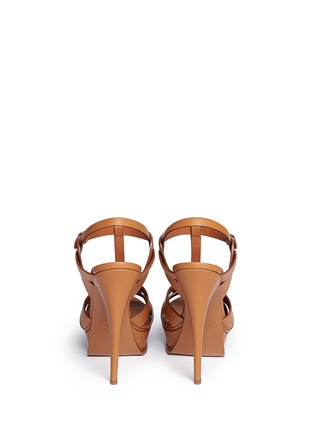 Saint Laurent - 'Tribute' knot front vegetal leather sandals
