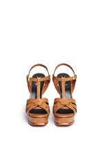 'Tribute' knot front vegetal leather sandals