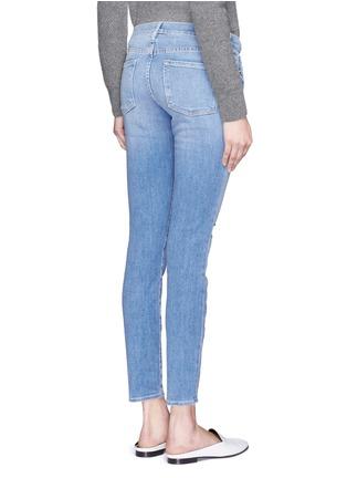 Back View - Click To Enlarge - Frame Denim - 'Le Skinny De Jeanne' distressed jeans