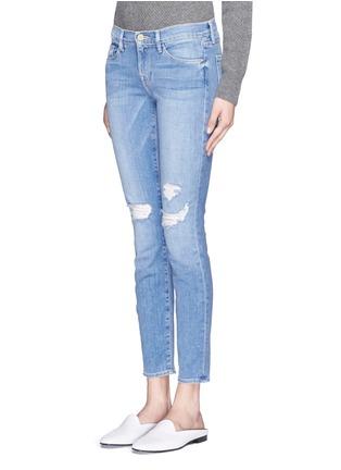 Front View - Click To Enlarge - Frame Denim - 'Le Skinny De Jeanne' distressed jeans