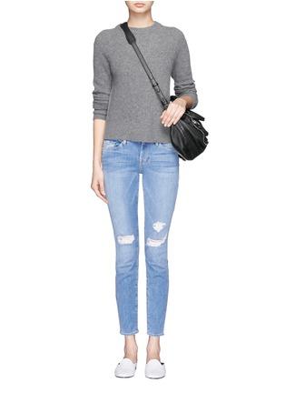 Figure View - Click To Enlarge - Frame Denim - 'Le Skinny De Jeanne' distressed jeans