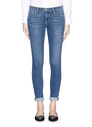 Detail View - Click To Enlarge - Frame Denim - 'Le Skinny de Jeanne' whiskered jeans
