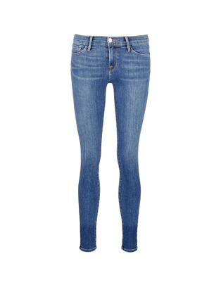 Main View - Click To Enlarge - Frame Denim - 'Le Skinny de Jeanne' whiskered jeans