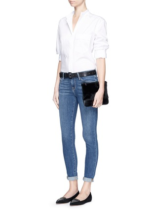 Figure View - Click To Enlarge - Frame Denim - 'Le Skinny de Jeanne' whiskered jeans