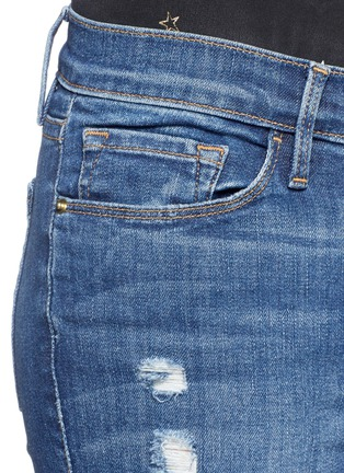 Detail View - Click To Enlarge - Frame Denim - 'Le Skinny de Jeanne' ripped jeans