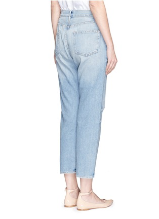 Back View - Click To Enlarge - Frame Denim - 'Le Original' distressed knee boyfriend jeans