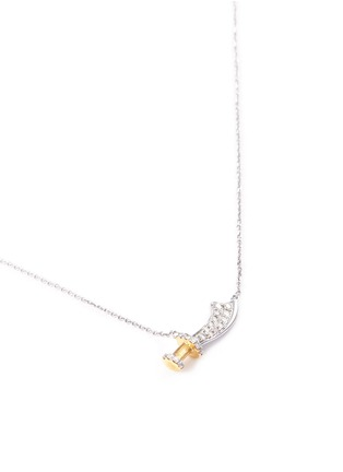 Figure View - Click To Enlarge - Bao Bao Wan - Sword pendant diamond pavé 18k gold necklace