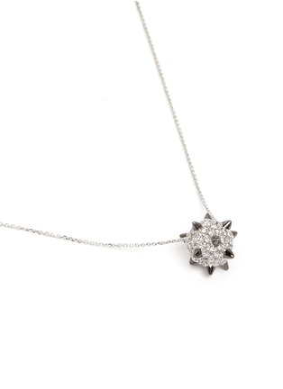 Figure View - Click To Enlarge - Bao Bao Wan - Spike bomb pendant diamond pavé 18k white gold necklace