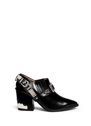 Main View - Click To Enlarge - TOGA ARCHIVES - Buckle harness leather booties