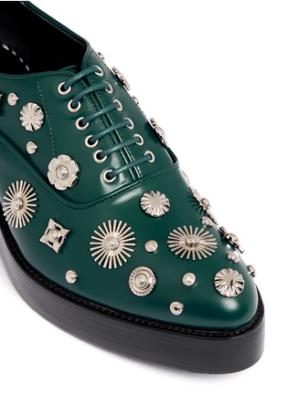 Detail View - Click To Enlarge - TOGA SHOES - Stud embellished leather Derbies