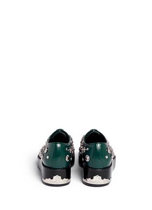 Back View - Click To Enlarge - TOGA SHOES - Stud embellished leather Derbies