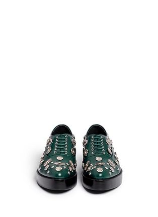 Figure View - Click To Enlarge - TOGA SHOES - Stud embellished leather Derbies