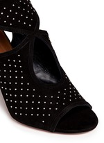 'Sexy Thing' stud cutout suede sandals