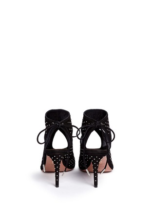 Back View - Click To Enlarge - Aquazzura - 'Sexy Thing' stud cutout suede sandals
