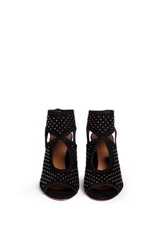 AQUAZZURA'Sexy Thing' stud cutout suede sandals