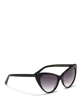 Figure View - Click To Enlarge - Spektre - 'Eva' acetate cat eye sunglasses