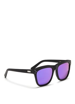 Figure View - Click To Enlarge - Spektre - 'Milano' matte acetate mirror sunglasses