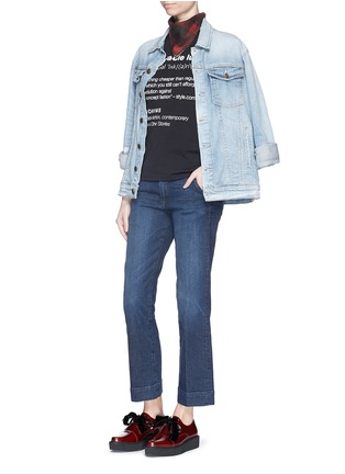 Figure View - Click To Enlarge - ANNA K - 'Affordable Luxury' slogan print T-shirt