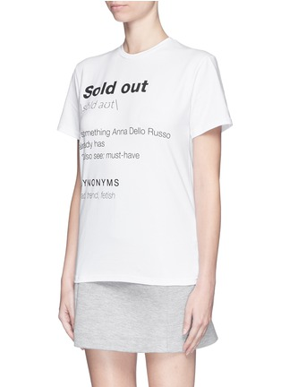 Front View - Click To Enlarge - ANNA K - 'Sold Out' slogan print T-shirt