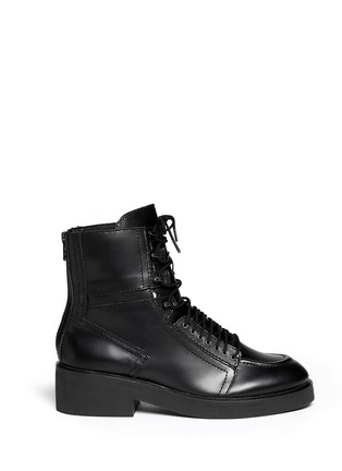 Main View - Click To Enlarge - Ash - 'Neal' lace-up leather combat boots