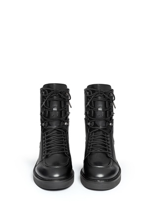 Figure View - Click To Enlarge - Ash - 'Neal' lace-up leather combat boots