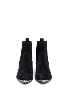 ASH'Liv' floral cutout suede boots