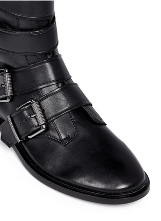 Detail View - Click To Enlarge - Ash - 'Postpone' buckle strap leather boots