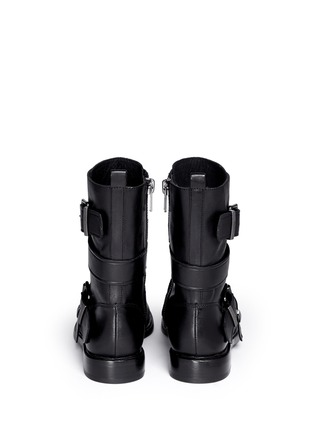 Back View - Click To Enlarge - Ash - 'Postpone' buckle strap leather boots