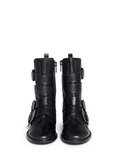 ASH'Postpone' buckle strap leather boots