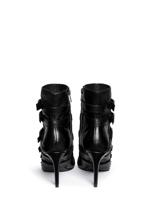 Back View - Click To Enlarge - Ash - 'Cash' multi buckle leather boots